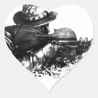 violin sniper heart sticker