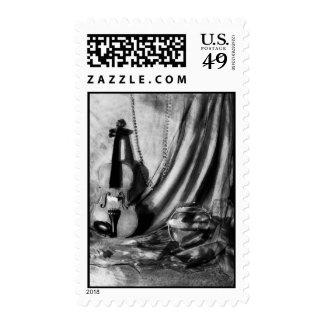 Violin Still Life Postage Stamp