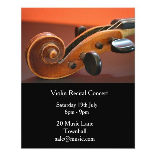 Violin String Instrument Recital Music Performance Flyer