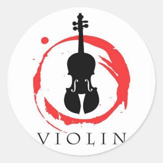 Violin Student Classic Round Sticker