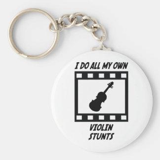 Violin Stunts Keychain