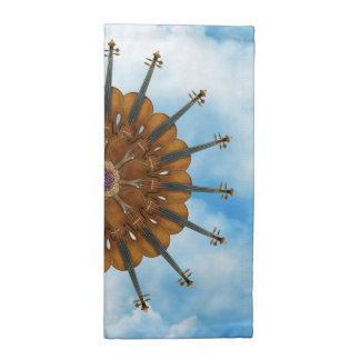Violin Sunflower in Cloudy Blue Sky Napkin