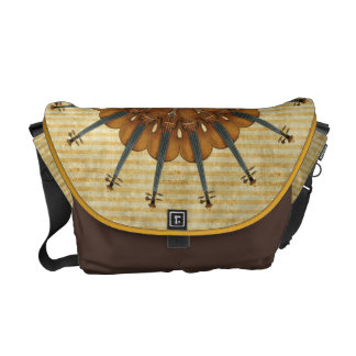 Violin Sunflower Messenger Bags