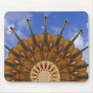 Violin Sunflower Mouse Pad