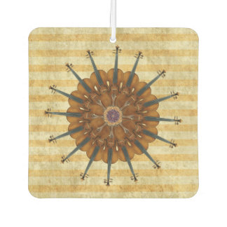 Violin Sunflower on Golden Stripes Air Freshener