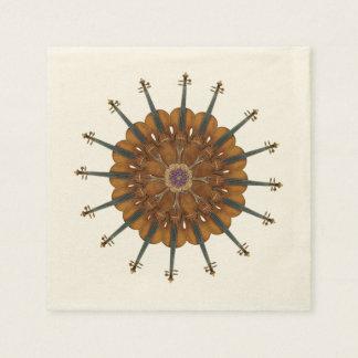 Violin Sunflower Paper Napkin
