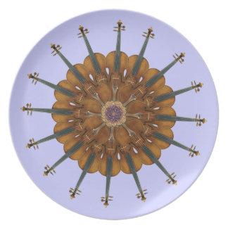 Violin Sunflower Plate