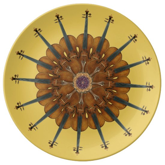 Violin Sunflower Plate