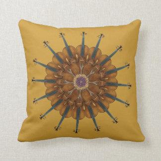 Violin Sunflower Throw Pillow