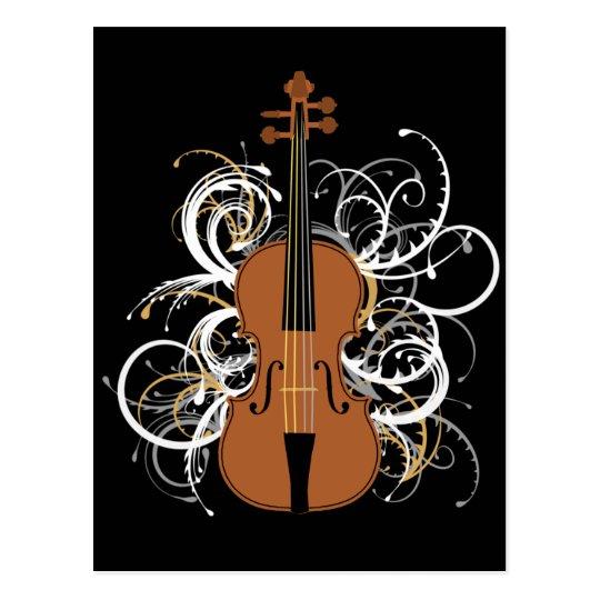 Violin Swirls Postcard