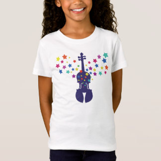 Violin T-Shirt Girls-Starburst