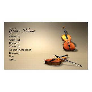 violín tarjetas de visita