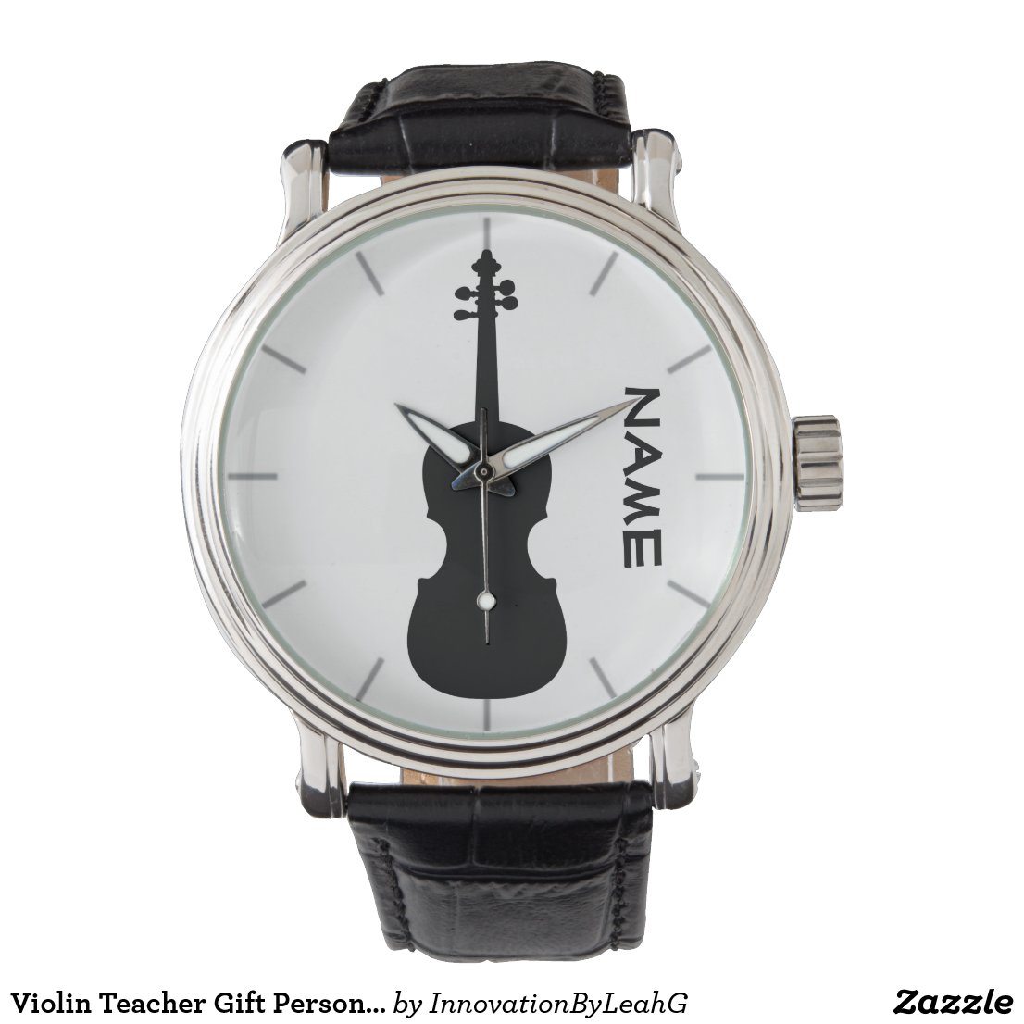 Violin Teacher Gift Personalized Watch
