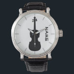 "Violin Teacher Gift Personalized Watch<br><div class=""desc"">1. Edit the text template fields as required to create a unique and memorable keepsake item. If template fields are not showing select the &#39;CUSTOMIZE&#39; tab to edit. ____________________________________________________________________________ 2.  If you require assistance,  matching partyware or a custom item contact designer LeahG via the tab below.</div>"