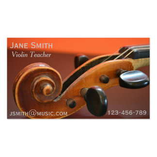 Violin Teacher String instrument music tutor Double-Sided Standard Business Cards (Pack Of 100)
