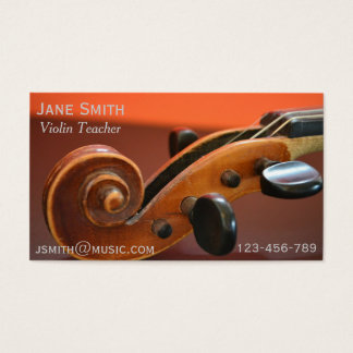 Violin Teacher String instrument music tutor Business Card