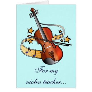 Violin Teacher Thank You Greeting Card