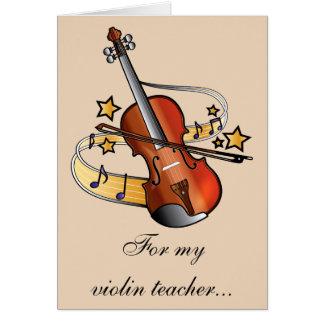 Violin Teacher Thank You Card