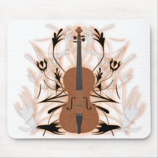 Violin & Tribal Artwork: Custom Mousepad