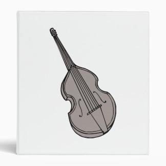 Violin Upright Bass Guitar Graphic 3 Ring Binder