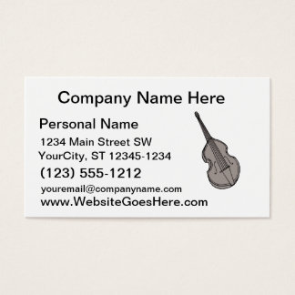 Violin Upright Bass Guitar Graphic Business Card