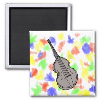 Violin Upright Bass Guitar Graphic Magnet