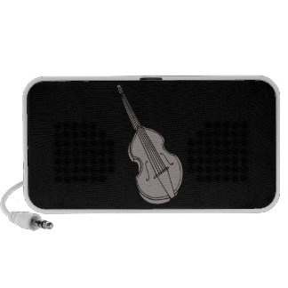 Violin Upright Bass Guitar Graphic Mp3 Speakers