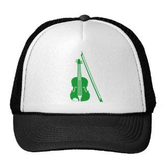 Violín - verde de hierba gorro