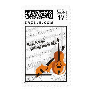 Violin Version Music Is What Feelings Sound Like Postage