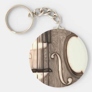 Violin, Viola, Cello? Basic Round Button Keychain