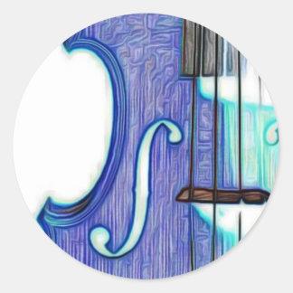 Violin, Viola, Cello? Classic Round Sticker