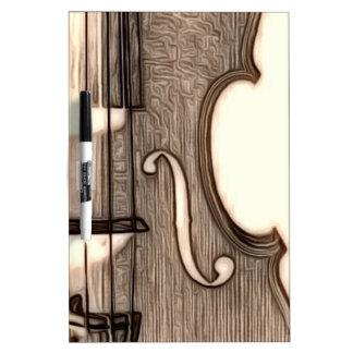 Violin, Viola, Cello? Dry Erase Board