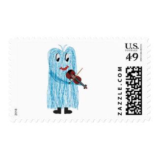 Violin & Viola - Get a Warm Fuzzy Feeling Postage Stamp