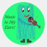 Violin & Viola - Get a Warm Fuzzy Feeling Round Sticker
