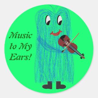 Violin Viola - Get a Warm Fuzzy Feeling Round Sticker