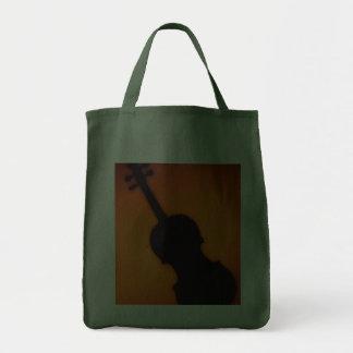 Violin Viola Grocery Tote Bag