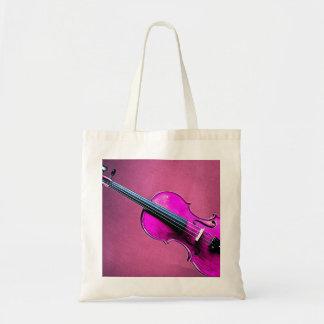 Violin Viola Tote Bag Pink Violin