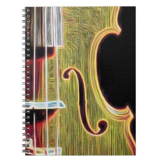 ¿Violín, viola, violoncelo? Spiral Notebooks