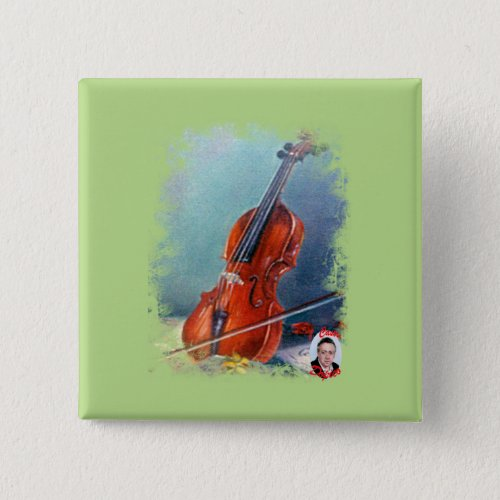 Violin 2-inch Square Button