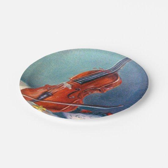 Violin/Violin Paper Plate