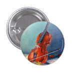 Violín/Violin Pin Redondo De 1 Pulgada