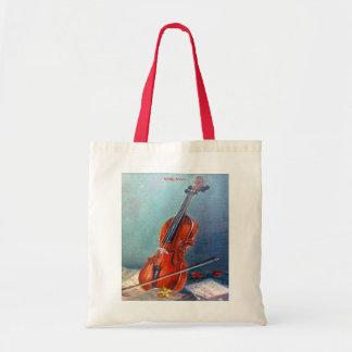 Violin/Violin Tote Bag