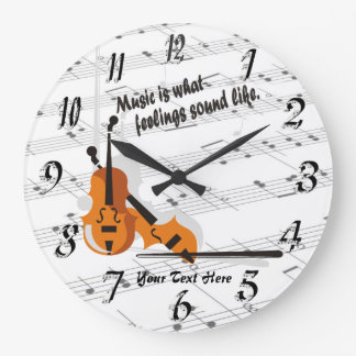 Violin Wall Clocks Zazzle