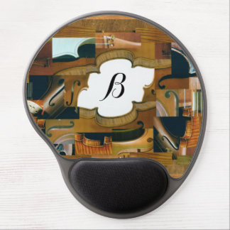 Violin Window with Customizable Monogram Gel Mouse Pad