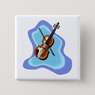 Violin with Blue background graphic image Button