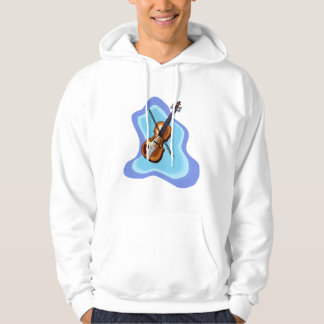 Violin with Blue background graphic image Hoodie