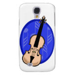 Violin With Blue Notes Background Samsung Galaxy S4 Case
