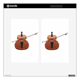 Violin with Bow Skin For Kindle Fire