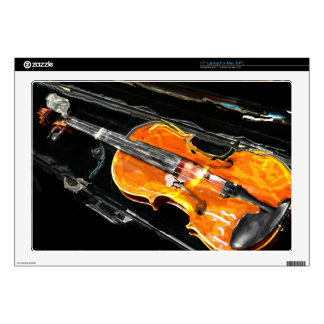 """VIOLIN  WITH CASE ABSTRACT SKIN FOR 17"""" LAPTOP"""