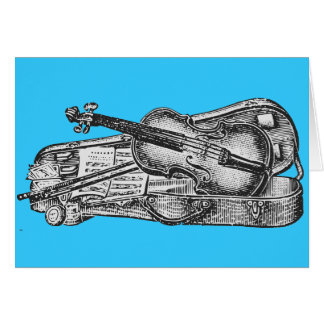 Violin with Case Card
